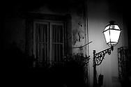Street lamp in a street of Lisbon