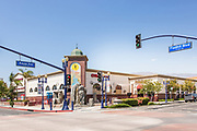 Azusa Light & Water Fountain Plaza on the Corner of Azusa Ave and Historic Route 66