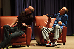 "Alberto Salazar interviewed by David Willey, joined by John Brant, author, and Dick Beardsley, runner, promoting book ""14 Minutes"" during 2012 BAA Boston Marathon weekend"