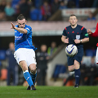 St Johnstone v Ross County....29.11.14   Scottish Cup 4th Round<br /> James McFadden curls a shot just past the post<br /> Picture by Graeme Hart.<br /> Copyright Perthshire Picture Agency<br /> Tel: 01738 623350  Mobile: 07990 594431