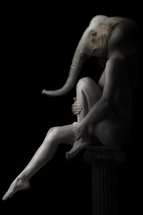 black and white fantasy nude