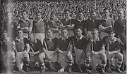 Cork-All-Ireland Hurling Champions 1952. Back Row:B Murphy (selector), G Murphy, J Lyons, D Creedon, Liam Dowling, Joe Twomey, Paddy Barry (capt), Matt Fuohy, Jim Barry. Front Row: Jerry O'Riordan, Willie John Daly, Christy Ring, Liam Abernethy, Willie Griffin, Sean O'Brien, Vincent Twomey.