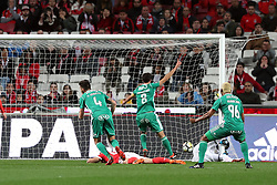 February 3, 2018 - Lisbon, Portugal - Rio Ave's forward Guedes shoots to score during the Portuguese League football match SL Benfica vs Rio Ave FC at the Luz stadium in Lisbon on February 3, 2018. Photo: Pedro Fiuza  (Credit Image: © Pedro Fiuza/NurPhoto via ZUMA Press)