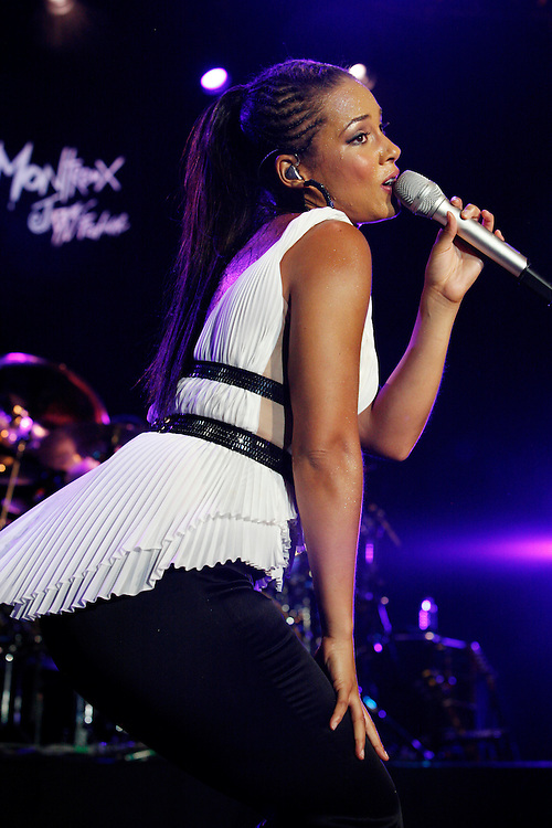 Alicia Keys performing at the 42nd Montreux Jazz Festival, Switzerland.