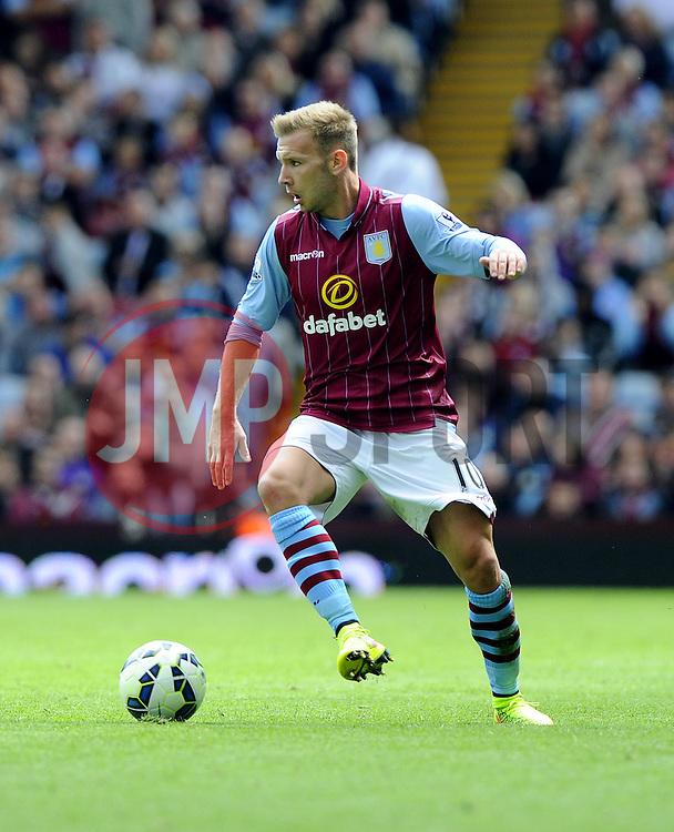 Aston Villa's Andreas Weimann - Photo mandatory by-line: Joe Meredith/JMP - Mobile: 07966 386802 23/08/2014 - SPORT - FOOTBALL - Birmingham - Villa Park - Aston Villa v Newcastle United - Barclays Premier League