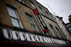 UK ENGLAND LONDON 4NOV12 - Street scene with Upperclass Fashion store near Brick Lane and Shoreditch in London's trendy east end.....jre/Photo by Jiri Rezac....© Jiri Rezac 2012