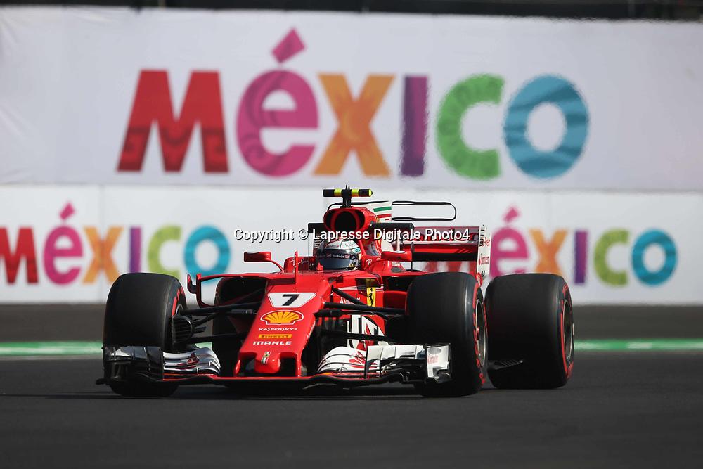 &copy; Photo4 / LaPresse<br /> 27/10/2017 Mexico City, Mexico<br /> Sport <br /> Grand Prix Formula One Mexico 2017<br /> In the pic: Kimi Raikkonen (FIN) Scuderia Ferrari SF70H