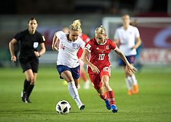 NEWPORT, WALES - Thursday, August 30, 2018: Wales' Jessica Fishlock in action during the FIFA Women's World Cup 2019 Qualifying Round Group 1 match between Wales and England at Rodney Parade. (Pic by Laura Malkin/Propaganda)