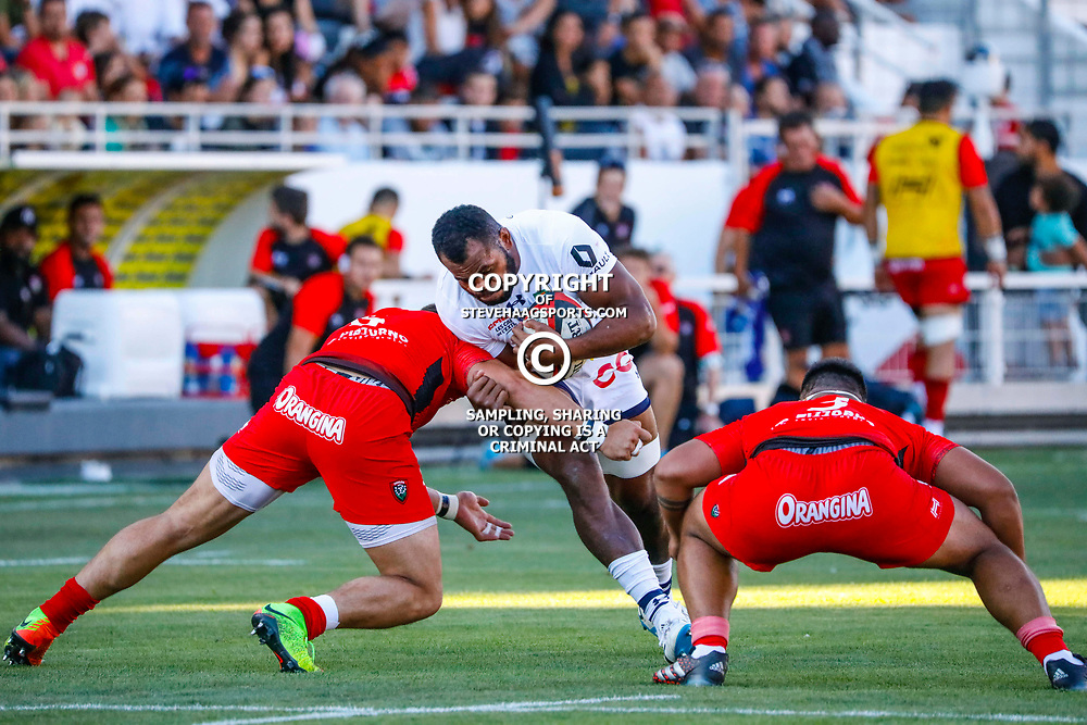 Peceli Yato of Clermont during the pre-season match between Rc Toulon and Clermont Auvergne at Felix Mayol Stadium on August 11, 2017 in Toulon, France. (Photo by Guillaume Ruoppolo/Icon Sport)
