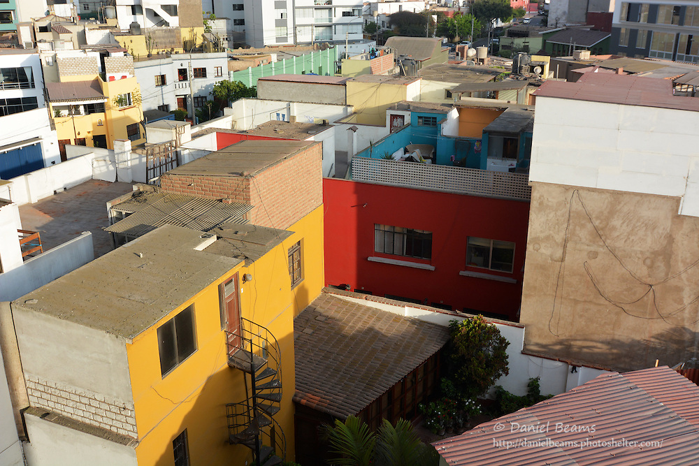 Rooftop view of Mira Flores, Lima, Peru