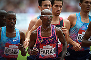 Mo Farah of Great Britain on his way to winning the Men's 3000m during the Muller Anniversary Games at the London Stadium, London, England on 9 July 2017. Photo by Martin Cole.