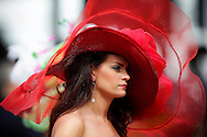 Race day fashion at the Kentucky Oaks at Churchill Downs in Louisville, KY on May 03, 2013. (Alex Evers/ Eclipse Sportswire)