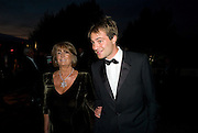 LADY ANNABEL GOLDSMITH; BEN GOLDSMITH, Royal Parks Foundation Summer party. Gala evening, sponsored by Candy & Candy on behalf of One Hyde Park. Hyde Park. London. 10 September 2008 *** Local Caption *** -DO NOT ARCHIVE-© Copyright Photograph by Dafydd Jones. 248 Clapham Rd. London SW9 0PZ. Tel 0207 820 0771. www.dafjones.com.