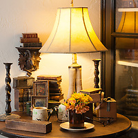 Rustic Cabin: Table vignette in bedroom