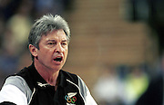 Tall Ferns coach Carl Dickel during the Women's basketball match between the New Zealand Tall Ferns and Poland at the Olympics in Sydney, Australia on 16 September, 2000. Photo: Dean Treml/PHOTOSPORT<br />