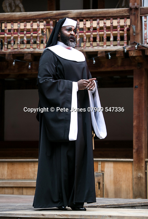 Twelfth Night by William Shakespeare;<br /> Directed by Emma Rice;<br /> Le Gateau Chocolat as Feste;<br /> Shakespeare's Globe;<br /> London, UK;<br /> 23 May 2017<br /><br />© Pete Jones<br />pete@pjproductions.co.uk