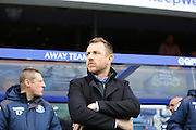 Birmingham City manager Gary Rowett lookin on during the Sky Bet Championship match between Queens Park Rangers and Birmingham City at the Loftus Road Stadium, London, England on 27 February 2016. Photo by Matthew Redman.