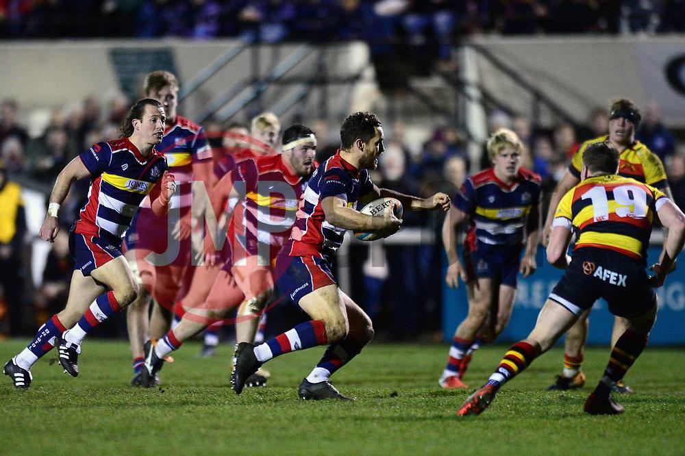 Luke Morahan of Bristol Rugby breaks forward  - Mandatory by-line: Dougie Allward/JMP - 30/12/2017 - RUGBY - The Athletic Ground - Richmond, England - Richmond v Bristol Rugby - Greene King IPA Championship