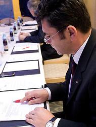 Branko Znidaric at Meeting of OKS in Grand hotel Union, on March 23, 2009, Ljubljana, Slovenia. (Photo by Vid Ponikvar / Sportida)