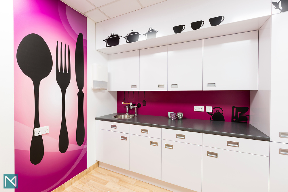 Kitchen in the Teenage Cancer Trust ward at Sheffield's Weston Park Hospital, for the Trust.