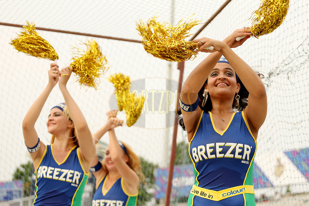 Breeze CLT20 dancers performing during match 4 of the Oppo Champions League Twenty20 between the Dolphins and the Perth Scorchers held at the Punjab Cricket Association Stadium, Mohali, India on the 20th September 2014. Photo by:  Jacques Rossouw / Sportzpics/ CLT20<br /> <br /> <br /> Image use is subject to the terms and conditions as laid out by the BCCI/ CLT20.  The terms and conditions can be downloaded here:<br /> <br /> http://sportzpics.photoshelter.com/gallery/CLT20-Image-Terms-and-Conditions-2014/G0000IfNJn535VPU/C0000QhhKadWcjYs