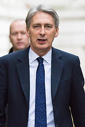 Downing Street, London, November 24th 2015. Foreign Secretary Philip Hammond arrives at Downing Street for the weekly cabinet meeting. ///FOR LICENCING CONTACT: paul@pauldaveycreative.co.uk TEL:+44 (0) 7966 016 296 or +44 (0) 20 8969 6875. ©2015 Paul R Davey. All rights reserved.