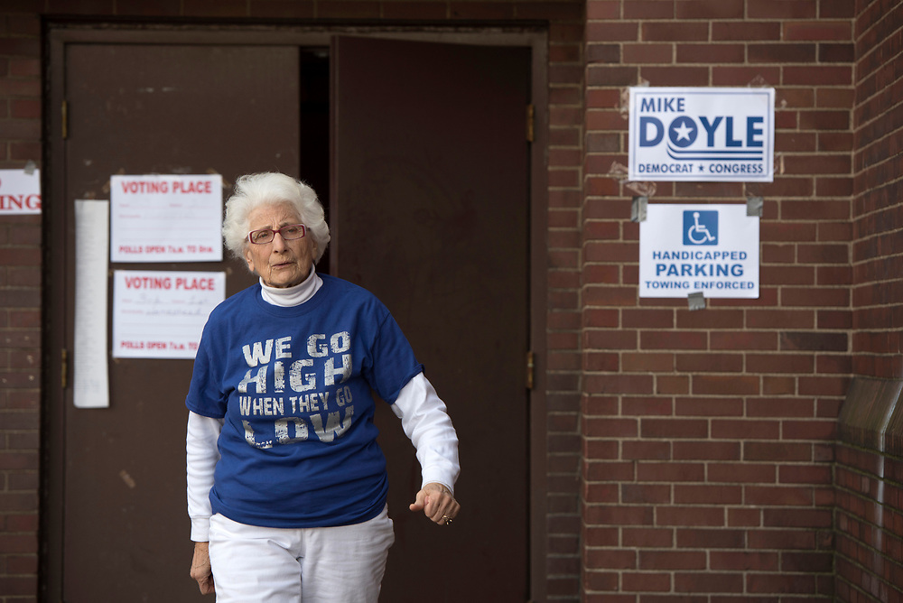 Homestead Betty Esper leaves a polling place after casting her vote for Hillary Clinton on Election Day 2016.