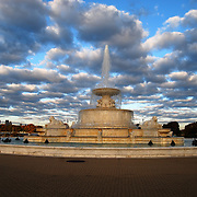 James Scott Fountain - Belle Isle<br /> Scott Fountain was built on Belle Isle with funds left to the city of Detroit by millionaire James Scott in 1910. The fountain, designed by architect Cass Gilbert, was completed in 1925