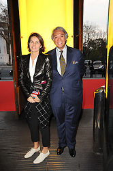 DAVID TANG and his wife LUCY at the opening of the Victoria & Albert Museum's latest exhibition 'Grace Kelly: Style Icon' opened by His Serene Highness Prince Albert of Monaco at the V&A on 15th April 2010.