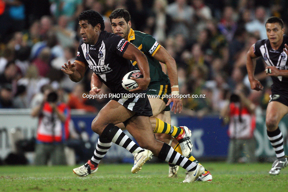 Iosia Soliola during the international rugby league test match, Kiwis v Kangaroos, Suncorp Stadium, Brisbane, Australia. Friday 8 May 2009. Photo: Andrew Cornaga/PHOTOSPORT