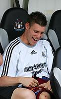 Photo: Andrew Unwin.<br /> Newcastle United v Villarreal. Pre Season Friendly. 05/08/2006.<br /> Newcastle's James Milner.