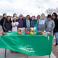 On Tuesday, Girl Scout Troop 10575 spends the afternoon selling cookies for their next trip at Ford Canyon Park in Gallup. They plan to continue their sales on April 16th when they receive a new supply of cookies.