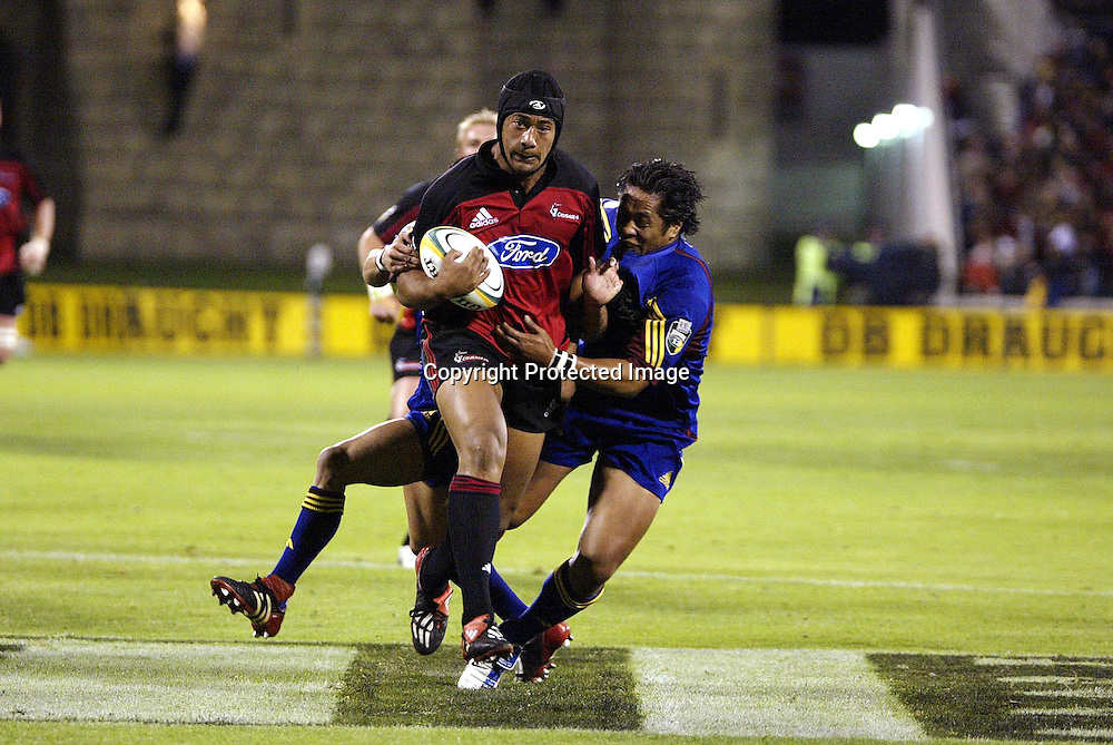 27 March 2004, Crusaders v Highlanders, Jade Stadium, Christchurch, New Zealand.<br />