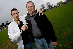 Football player Agim Ibraimi of NK Olimpija and Boris Ferencak, on March 25, 2010, ZAK stadium, Ljubljana, Slovenia. (Photo by Vid Ponikvar / Sportida)