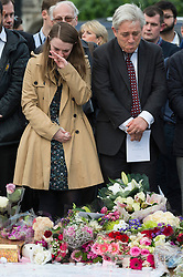 © Licensed to London News Pictures. 17/06/2016. JOHN BERCOW The Speaker of the House of Commons joins well wishers and tributes in Parliament Square in memory of Labour party MP JO COX. She was allegedly attacked and killed by suspect 52 year old Tommy Mair close to Birstall Library near Leeds. London, UK. Photo credit: Ray Tang/LNP