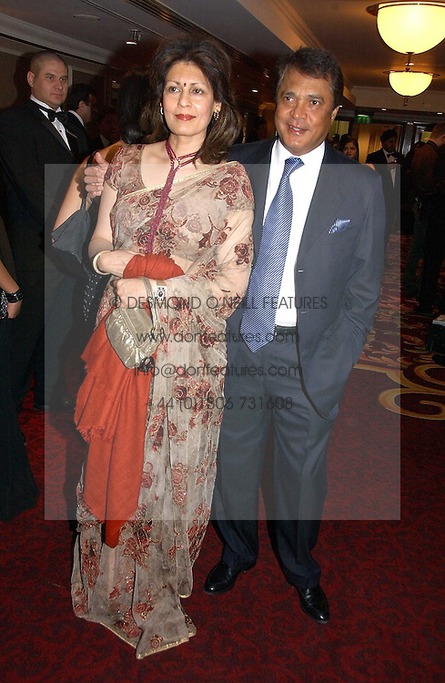 MR &amp; MRS MONI VARMA - The Man behind the Veetee food Brand at the 10th Anniversary Asian Business Awards 2006 at the London Grosvenor Hotel Park Lane, London on 19th April 2006.<br />