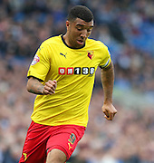 Watford Troy Deeney during the Sky Bet Championship match between Brighton and Hove Albion and Watford at the American Express Community Stadium, Brighton and Hove, England on 25 April 2015. Photo by Phil Duncan.