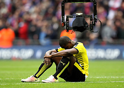 Odion Ighalo of Watford look dejected after losing in the FA Cup Semi-Final to Crystal Palace - Mandatory by-line: Robbie Stephenson/JMP - 24/04/2016 - FOOTBALL - Wembley Stadium - London, England - Crystal Palace v Watford - The Emirates FA Cup Semi-Final