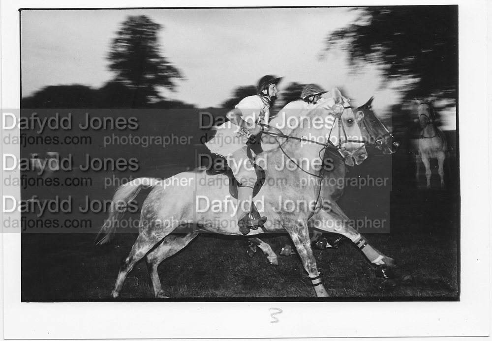 NICOLA MAY; SUSANNA MAY, Midsummer Madness, Midnight Steeplechase in aid of the British Fieldsports society. . Rotherfield Park. . July 1985.