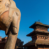 The Nyatapola Temple is located in Bhaktapur, Nepal.  The temple is a 5-story pagoda erected by Nepali King Bhupatindra Malla.