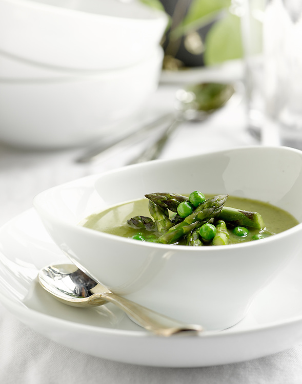 Healthy, gluten-free asparagus soup made without any cream.