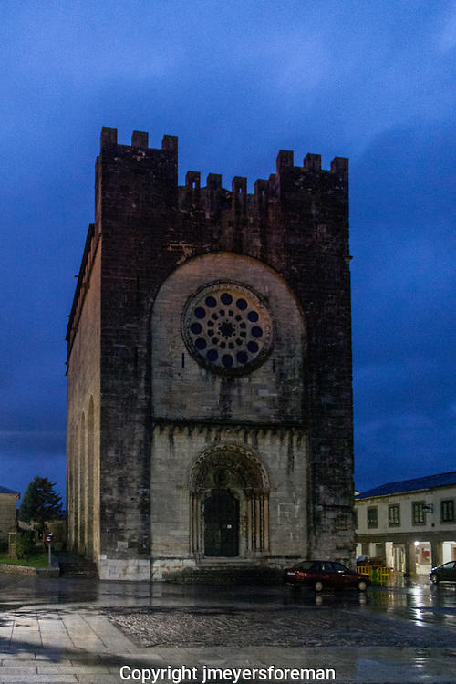 The Church of San Xoán of Portomarín is a temple-fortress of the Order of St John of Jerusalem, in the Galician town of Portomarín, Spain.It is an unusual Late Romanesque temple as it is designed to be both a church and a castle and so has architectural characteristics of both buildings.