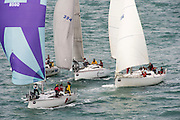 Nosaka (8560) Drop Dead Fred, Enine (394) and High Octane. The start of the Coastal Classic, Auckland to Russel race. 23/10/2015