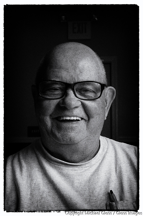 28 Jun 2017 Barnegat, New Jersey United States of America // Bob Tinervin of the Ocean county Fr Duffy division 2 of the AOH sits for a portrait.  AOH portraits of members at Americal Legion hall  //  Michael Glenn  /   Glenn Images