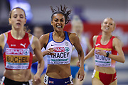 Adelle Tracey (Great Britain), Women's 800m Heat, during the European Athletics Indoor Championships 2019 at Emirates Arena, Glasgow, United Kingdom on 1 March 2019.