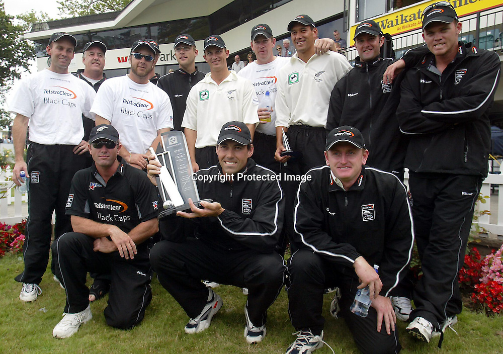 22nd December, 2002. Westpac Park, Hamilton, New Zealand. 2nd Test Match, Day 4. New Zealand v India.<br />