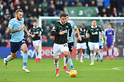 Graham Carey (10) of Plymouth Argyle on the attack during the EFL Sky Bet League 1 match between Plymouth Argyle and Accrington Stanley at Home Park, Plymouth, England on 22 December 2018.