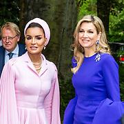 NLD/Den Haag//20170519 - Koningin Maxima en Hare Hoogheid Sheikha Moza bint Nasser uit Qatar bij seminar over bescherming onderwijs in conflictsituaties, Koningin Maxima en Hare Hoogheid Sheikha Moza bint Nasser