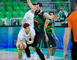 Bojan Radulovic of Petrol Olimpija and Vlatko Cancar of Mega Bemax during Basketballl match between Petrol Olimpija Ljubljana and Mega Bemax in Round #15 of ABA League, on January 5, 2018 in Arena Stozice, Ljubljana, Slovenia. Photo by Ziga Zupan / Sportida