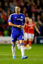 John Terry of Chelsea looks on after they win the match 1-4 - Mandatory byline: Rogan Thomson/JMP - 07966 386802 - 23/09/2015 - FOOTBALL - Bescot Stadium - Walsall, England - Walsall v Chelsea - Capital One Cup.
